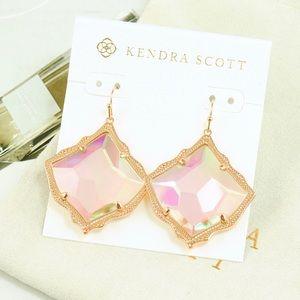 Kendra Scott Kirsten Dichroic Earrings Rose Gold